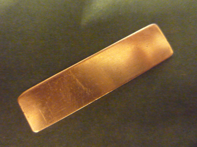 "V-866 Copper Rectangle w/ rounded corners 1/2"" x 2"""